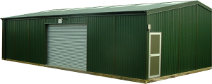 Sectional steel workshop building