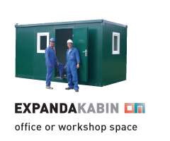 Expandakabin office or workshop space
