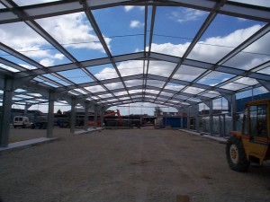 lightweight galvanised steel portal frame structure