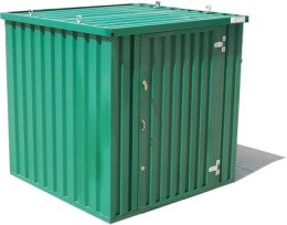 Expandastore flat pack secure steel storage container