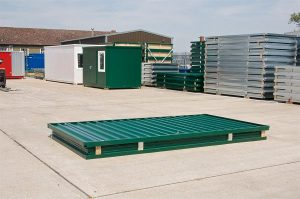 expandastore steel storage container flat packed