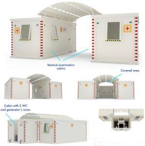 Portable medical examination units